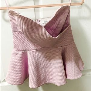 Peplum purple Tobi top